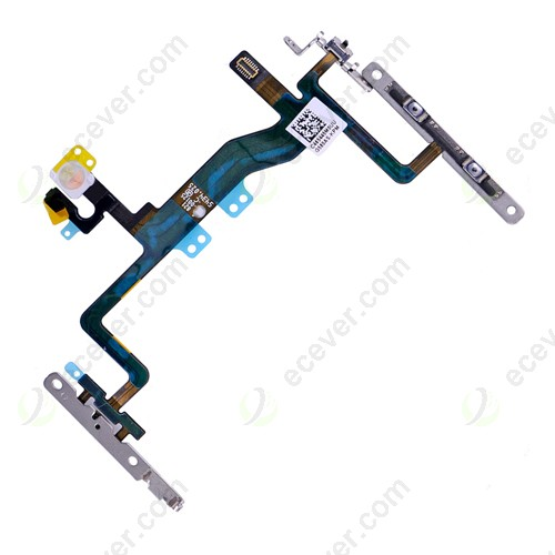 Power Button Control Flex Cable with Metal Bracket for iPhone 6S