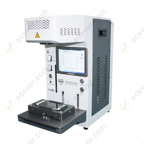 TBK 958B Laser Machine for iphone Back Glass Removing Engraving and LCD Frame Cutting with Free Mold