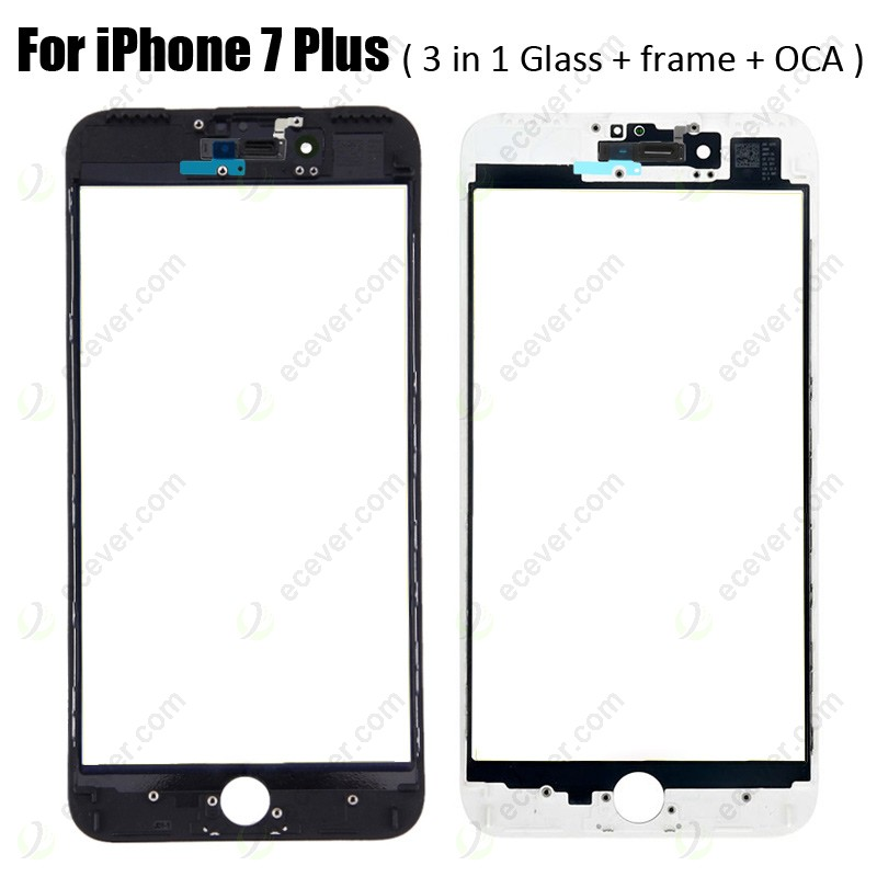 with Glue Card White Lens with Pre-Applied OCA Sheet for Apple iPhone 7 CDMA /& GSM