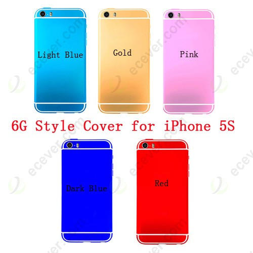 new concept d6fbd d94bb For iPhone 5S Back Cover like iPhone 6 Style