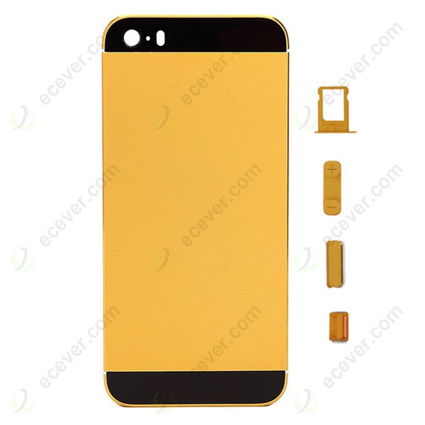 Gold Metal Alloy Back Cover Housing for iPhone 5S 36e2a58ef0