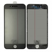 4 In 1 Glass with Frame OCA Glue Polarizer for iPhone 8 Black