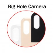 Big Hole Camera Back Glass Cover for iphone X XS XS Max XR Repair Replacement