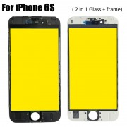 2 in 1 Glass with Frame Bezel Earpiece Mesh for iPhone 6S