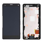 Black LCD Screen Touch Digitizer Assemly with Front Housing for Sony Xperia Z3 Compact