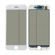 4 in 1 for iPhone 7 Glass Frame OCA Glue Polarizing Film White