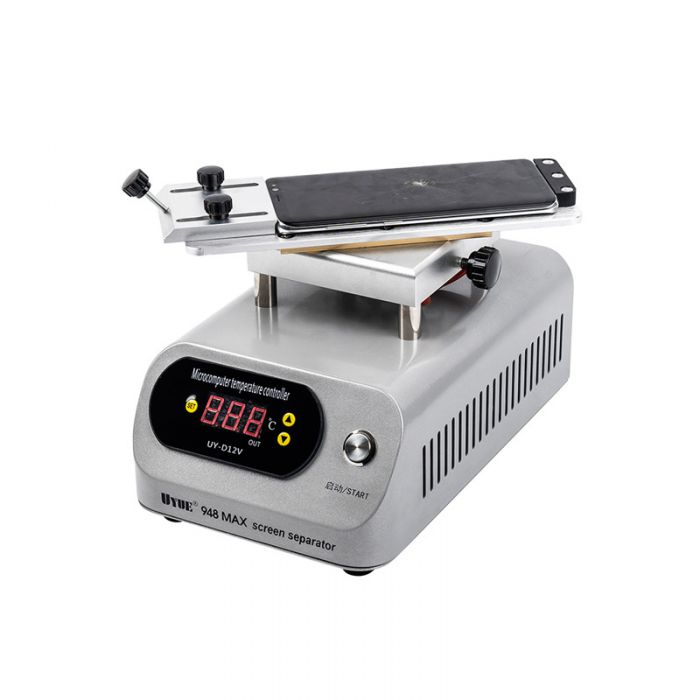 UYUE 948 Max Hot Plate LCD Separator 360 degrees Rotate Glass Separating Machine Build in Pump for Flat Edge Screen