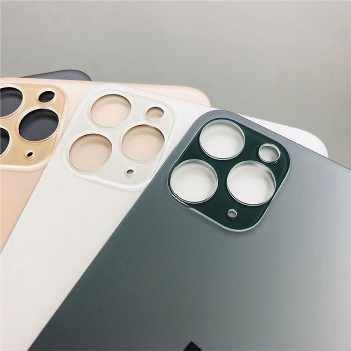 Big Hole Back Cover Glass Rear Housing For iPhone 11 pro 11 max Rear Door Body Replacement
