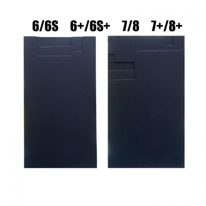 Black mat pad for iPhone 6 7 8 plus LCD laminate refurbish