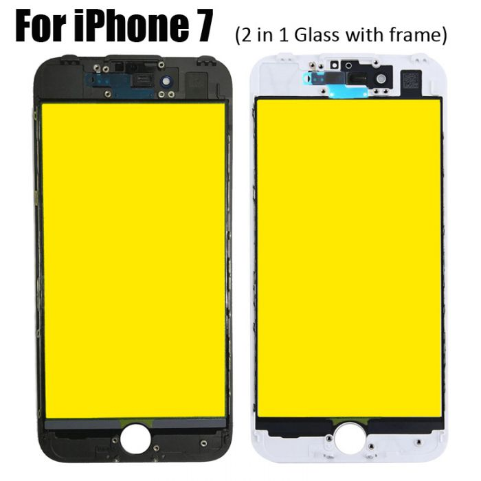 2 in 1 Glass with frame for iPhone 7