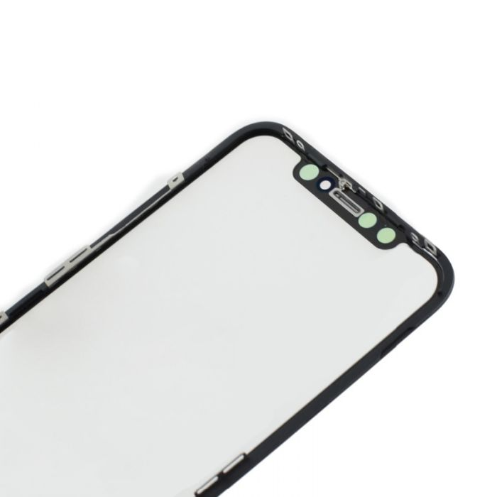 3 in 1 Front Glass with Frame OCA Foil for iPhone XR (ear mesh installed)