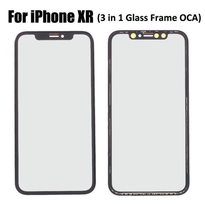 3 in 1 iPhone XR Glass with Frame OCA Glue