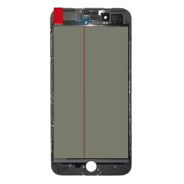 4 In 1 Glass for iPhone 7 Plus with Frame OCA Polarizer Film Black
