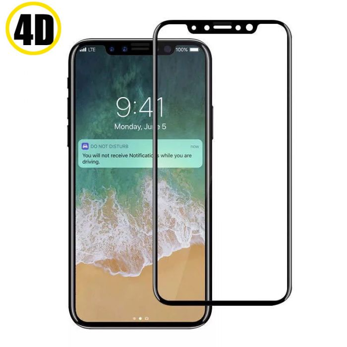 4D Full Screen Tempered Glass for iPhone X XS Max 11 Pro 7 8 Plus