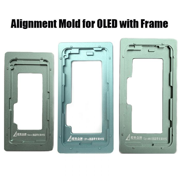 Front Glass Touch Screen to OLED Alignment Position Mould Mold with frame for iPhone 12 mini 12 Pro max