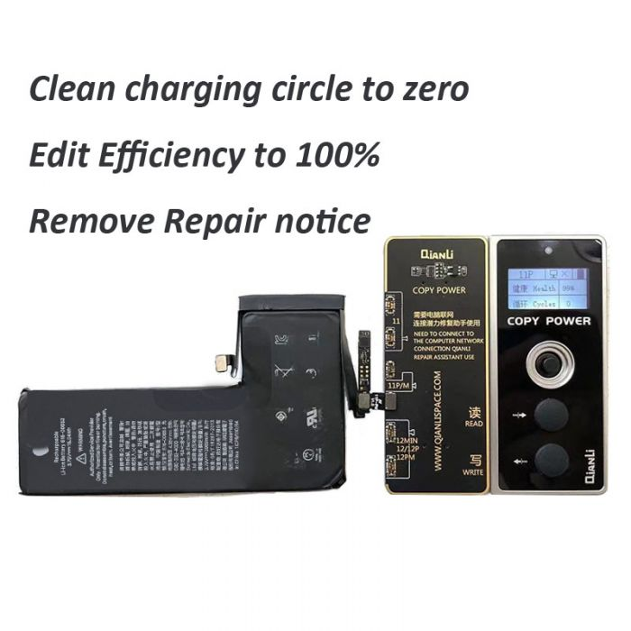 Qianli Copy Power Programmer tool for iPhone 11 Pro Max Battery Health Efficiency Circle Clean Editing