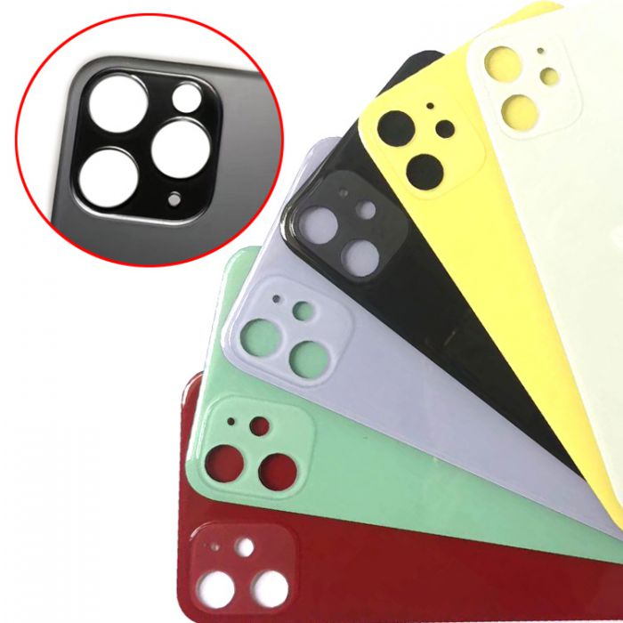 Big hole Camera Lens back glass cover for iPhone 11 Repair Replacement