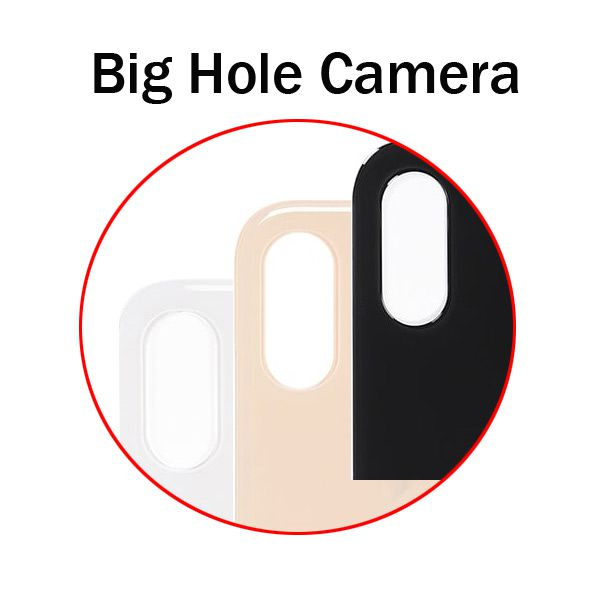 Big Hole Camera Back Glass Cover for iphone X XS XS Max Repair Replacement