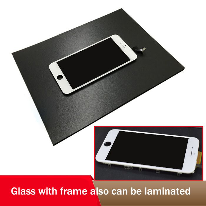 Black Lamination Mat Pad Rubber for iPhone Samsung