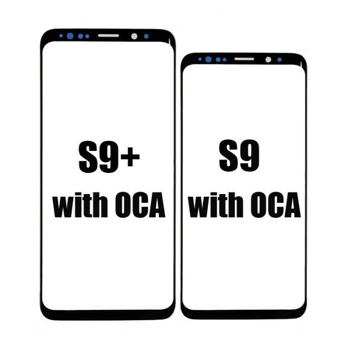 front glass lens with T-OCA for samsung S9 S9 plus screen repair refurbish