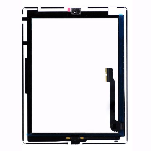 iPad 3 Front Touch Glass Screen Digitizer Assembly Black