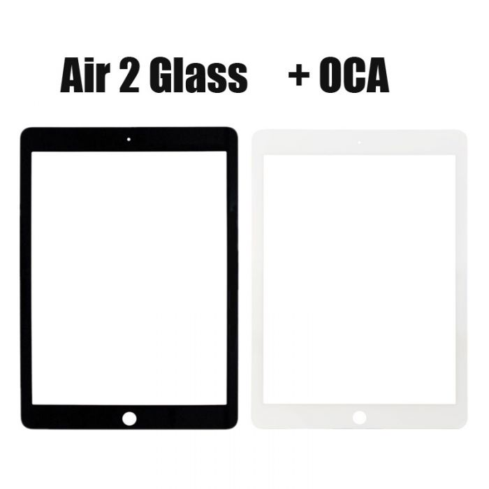 Front Glass Lens with OCA or without OCA for iPad Air 2