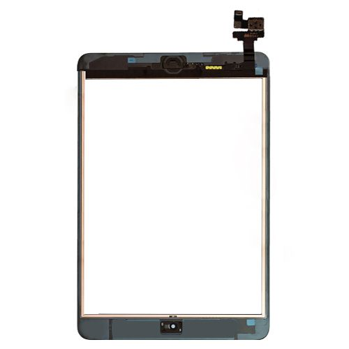 iPad mini front Touch Glass screen IC Chip Home button flex assembly Black