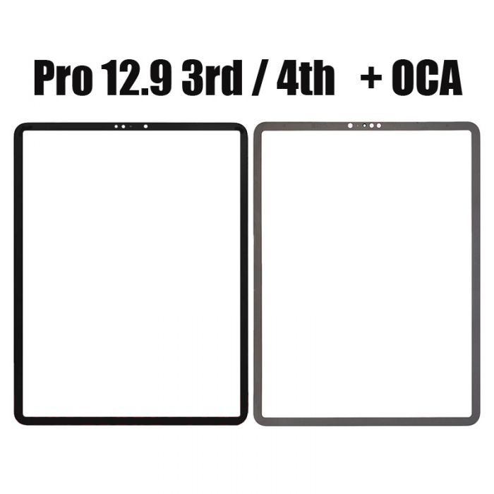 Front Glass Lens with OCA or Without OCA For iPad Pro 12.9 3rd Gen