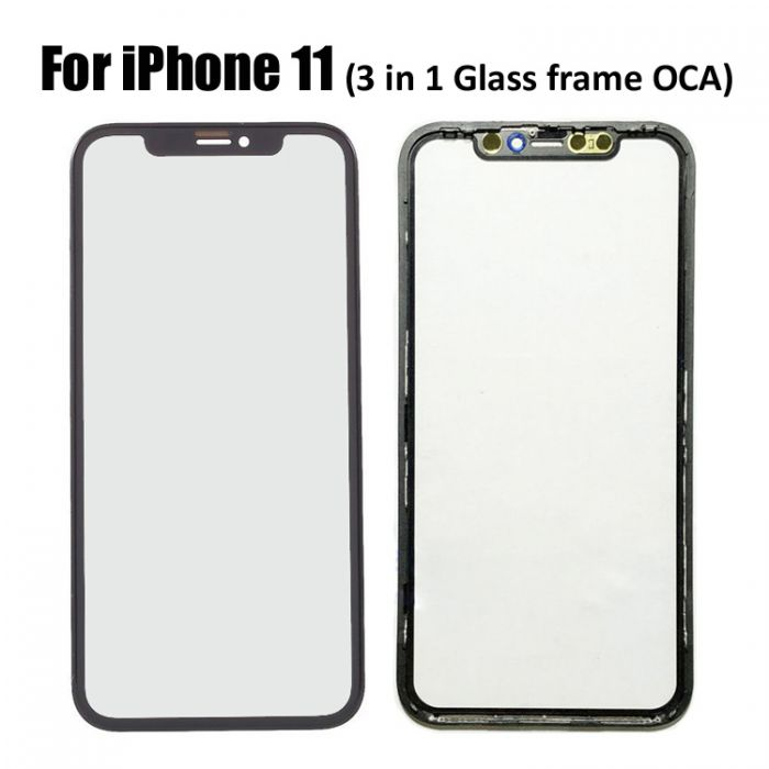Glass Lens with OCA Frame for iPhone 11