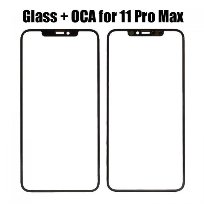 Front Glass with OCA Foil Glue for iPhone 11 Pro Max