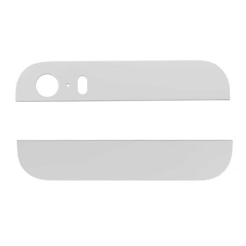 White Back Housing Top and Bottom Glass  for iPhone 5S
