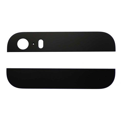 Black Back Housing Top and Bottom Glass for iPhone 5S