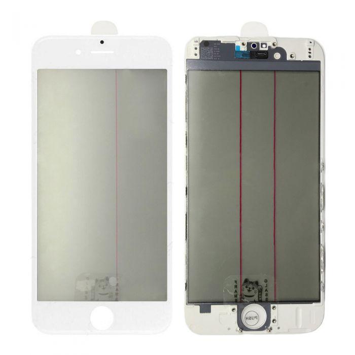 iPhone 6 4 IN 1 OCA Polarizer Glass frame white