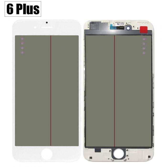 iPhone 6 + Plus 4 IN 1 Glass with OCA Polarizing Film Frame Lens