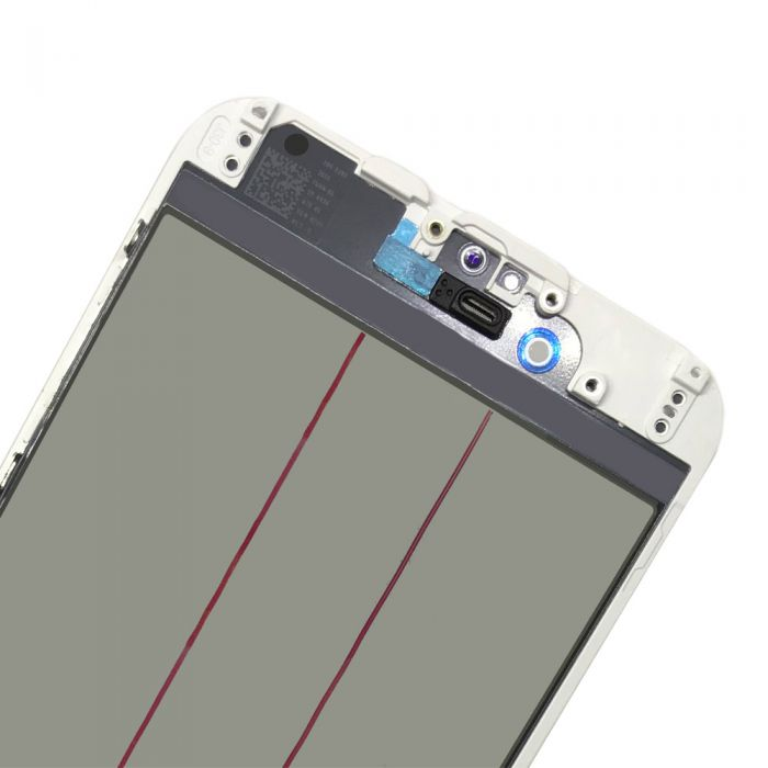 4 In 1 Glass with OCA Foil Polarizer Film for iPhone 6 White