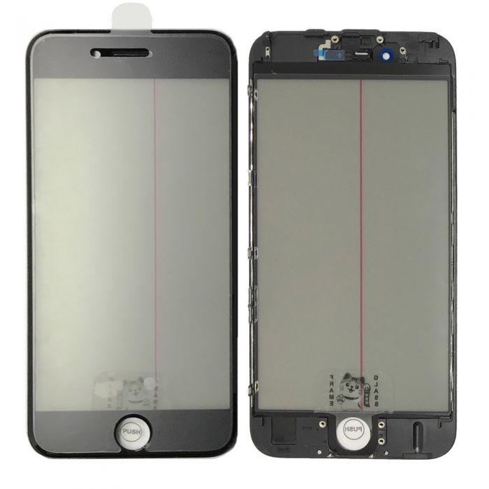 iPhone 6S Glass with Frame OCA Polarizer 4 in 1 Black