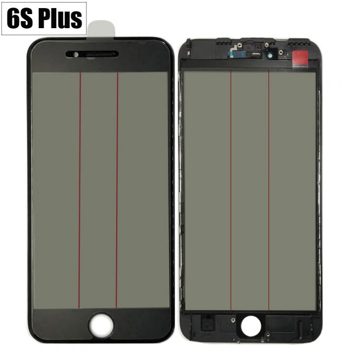 iPhone 6S+ Plus 4 in 1 Glass Frame OCA Glue Polarizer Original