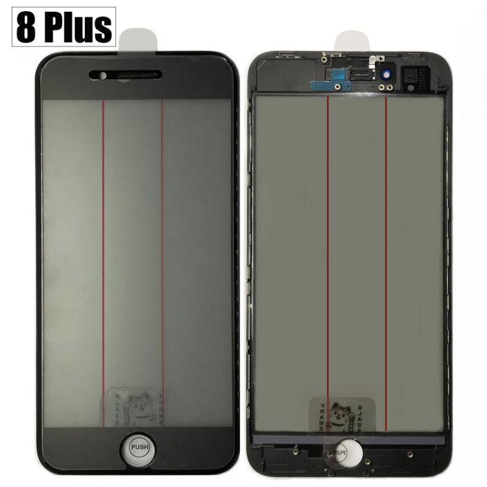 iPhone 8 Plus 4 in 1 Glass lens Bezel OCA Glue Polarizer film OEM