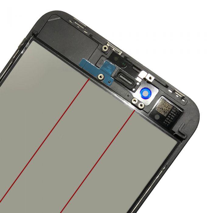 4 In 1 Glass Frame OCA Polarizer for iPhone 8 Plus Black