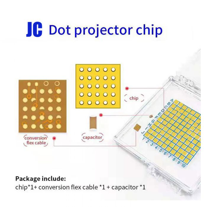 JC Dot Projector IC Chip for iPhone X XS MAX 11 Pro Max Face ID Repair