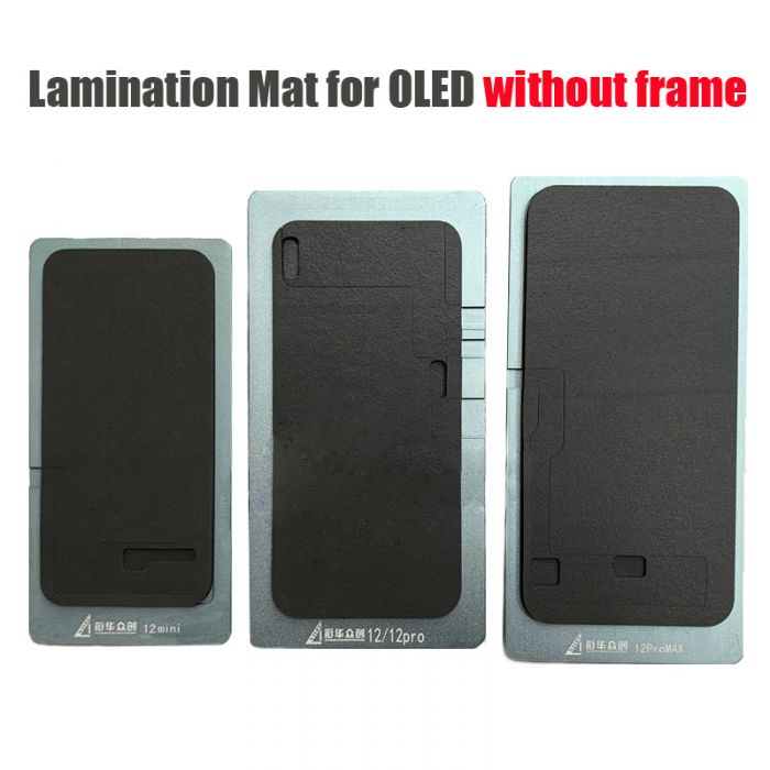 (Without Frame) Touch Glass Lamination Mat Pad Mold for iPhone 12 mini 12 Pro Max OLED without Frame