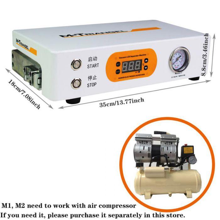 M-Triangel Mini Autoclave LCD OCA Bubble Remover Remove Machine