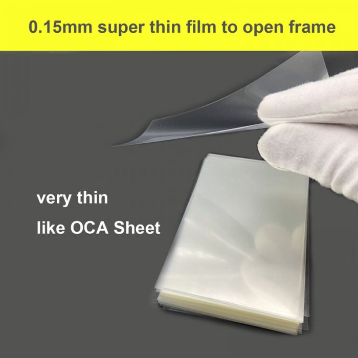 Super thin Plastic OCA Sheet Film to Separate frame for iPhone for Samsung Frame Bezel