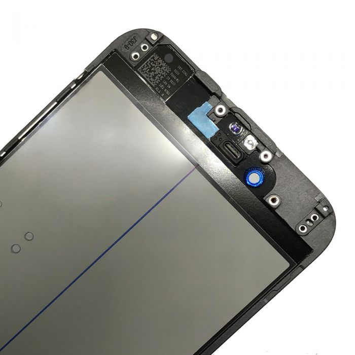 4 In 1 Glass with OCA Foil Polarizer Film for iPhone 6 Black