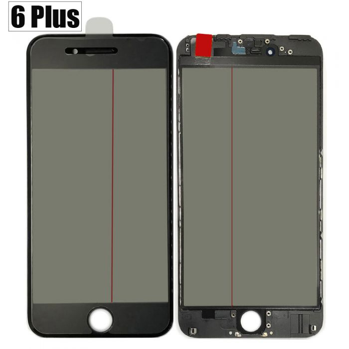 Original iPhone 6 Plus 4 in 1 Glass Polarizer OCA Foil Black