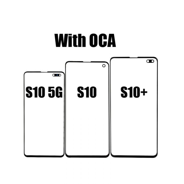 Front Glass Glass with T-OCA for Samsung Galaxy S10 S10+ S10 5G Plus Screen Repair
