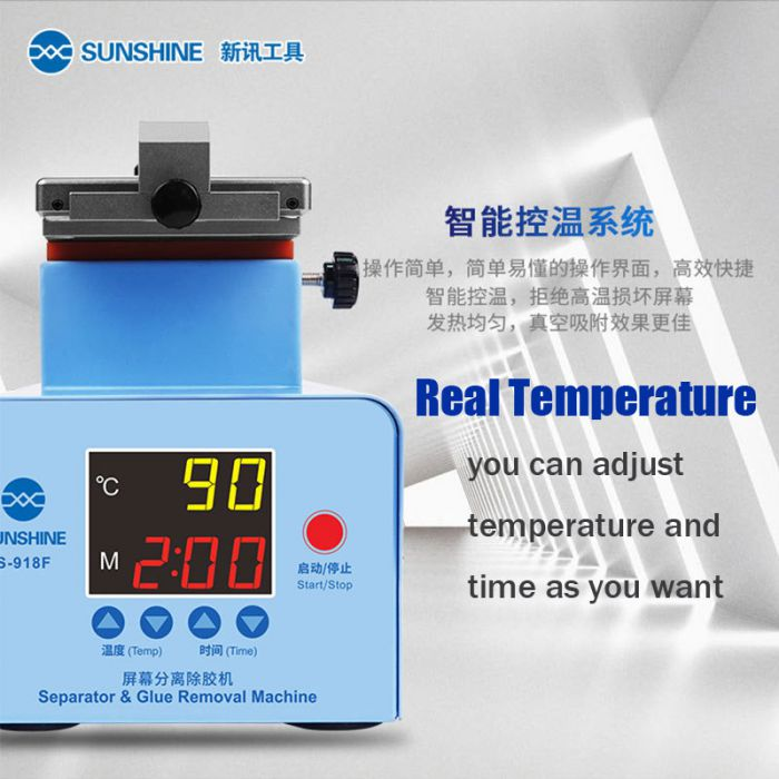 Sunshine S-918F Universal LCD Separator For Edge and Flat Screen 360 degree Rotating Hot plate