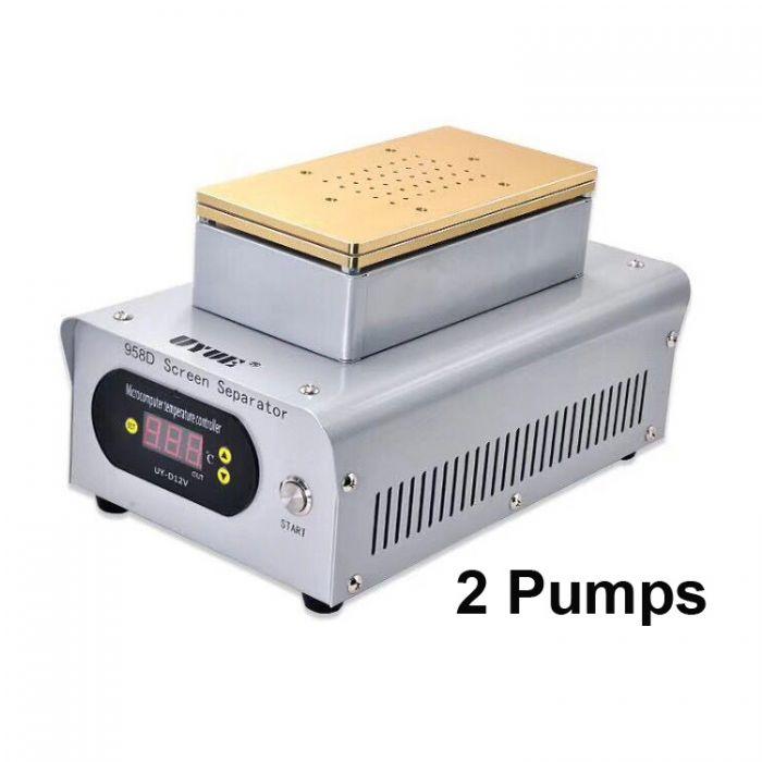 UYUE 2 pumps Hot Plate LCD Separator for LCD Refurbish