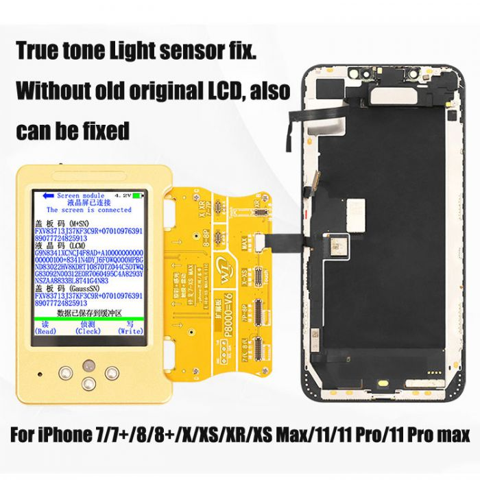 WL V11 Ambient Light Sensor True tone display repair fix Battery Vibrate Read Write Machine