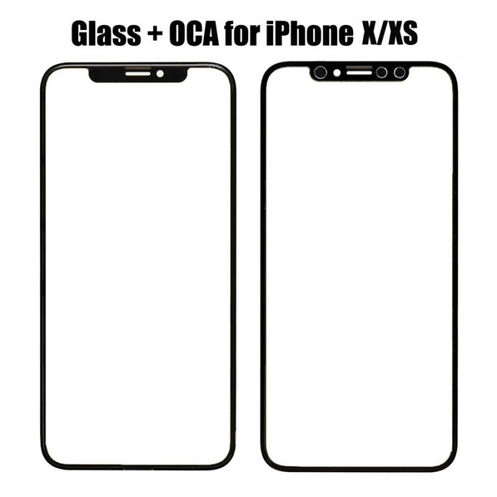 Front Glass with OCA Foil for iPhone XS x